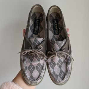 Sperry Argyle Top-Sider Canvas Loafer/Boat Shoes